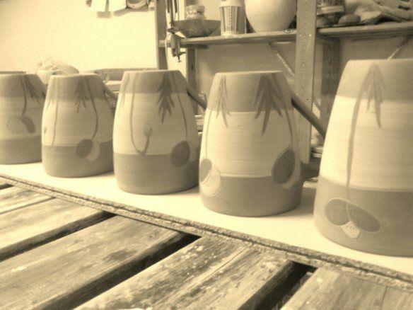 in the making. Ingrid Kristine - Håndlaga keramikk www.fruktfat.wordpress.com
