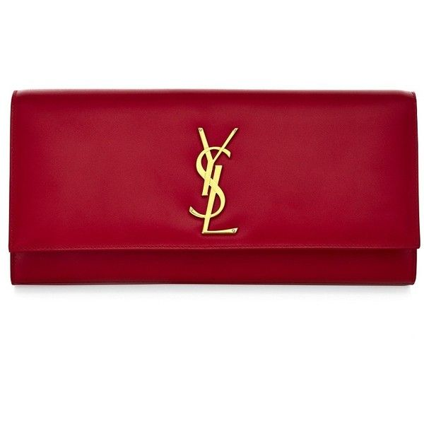 Saint Laurent Classic Monogramme Clutch found on Polyvore