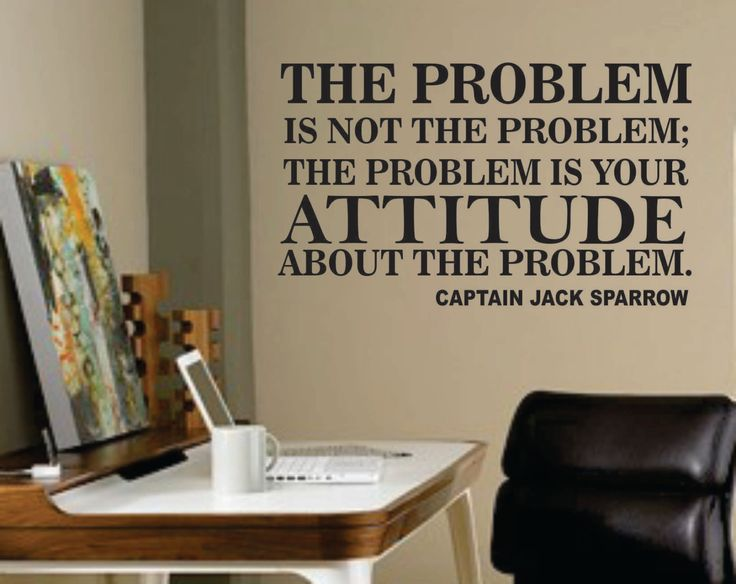 Vinyl Wall Lettering The Problem Quote by Captain Jack Sparrow. $13.00, via Etsy.