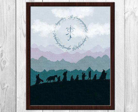 Lord Of The Rings Drinking Silhouette