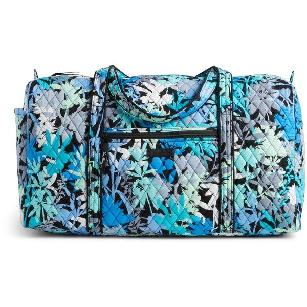 Vera Bradley Large Duffel 2.0 Travel Bag in Camofloral (£59) ❤ liked on Polyvore featuring bags, luggage and camofloral