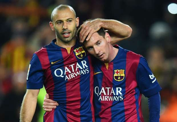 Mascherano: I wouldn't trade places with Messi