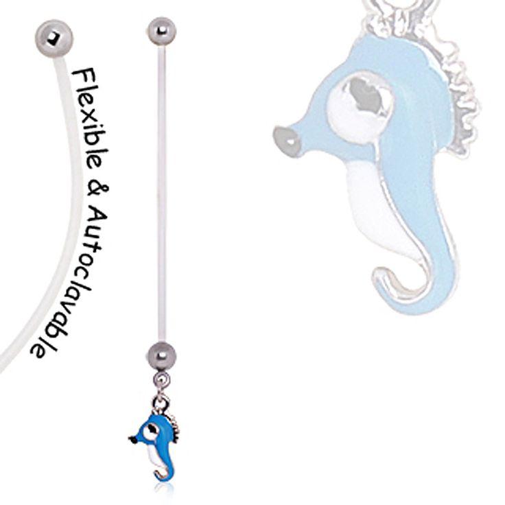 BioFlex Seahorse Pregnancy Navel Ring
