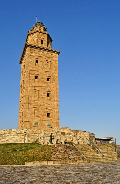 2/4/12 - Another shot of the Torre de Hercules in the town of La Coruna on the north west tip of Spain.