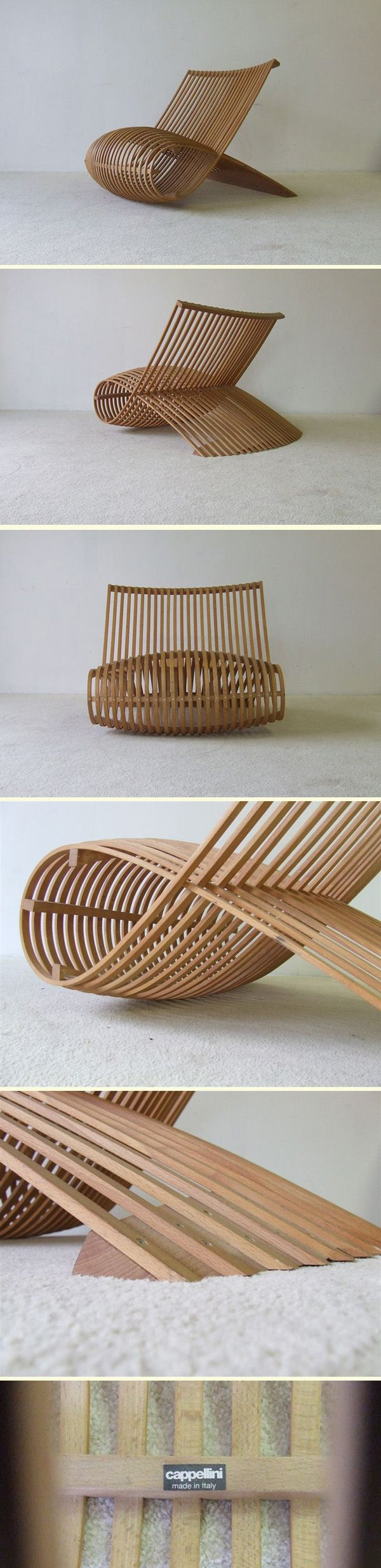 CAPPELLINI Wooden Chair by Marc Newson