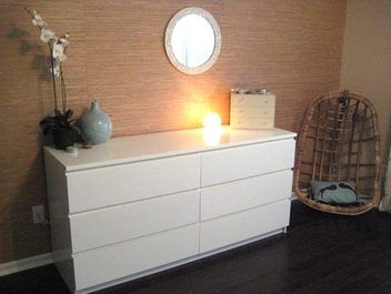 Chest of drawers: Malm Chest of 6 drawers, LOW BOYS,WHITE $495. Width: 160 cm  Depth: 48 cm  Height: 78 cm.