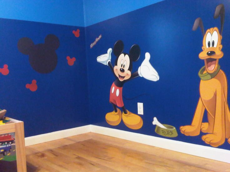 Ivan's Mickey Mouse bedroom.
