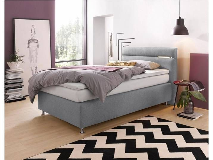 Boxspringbetten 120x200 Cm H2 Mit Beleuchtung Grau Westfalia Schl 120x200 Beleuchtung Bettgrau Boxspringbetten Grau Mit In 2020 Home Decor Furniture Sala