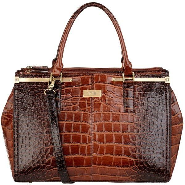 Fiorelli Jasmine Triple Zip Grab Handbag , Brown found on Polyvore
