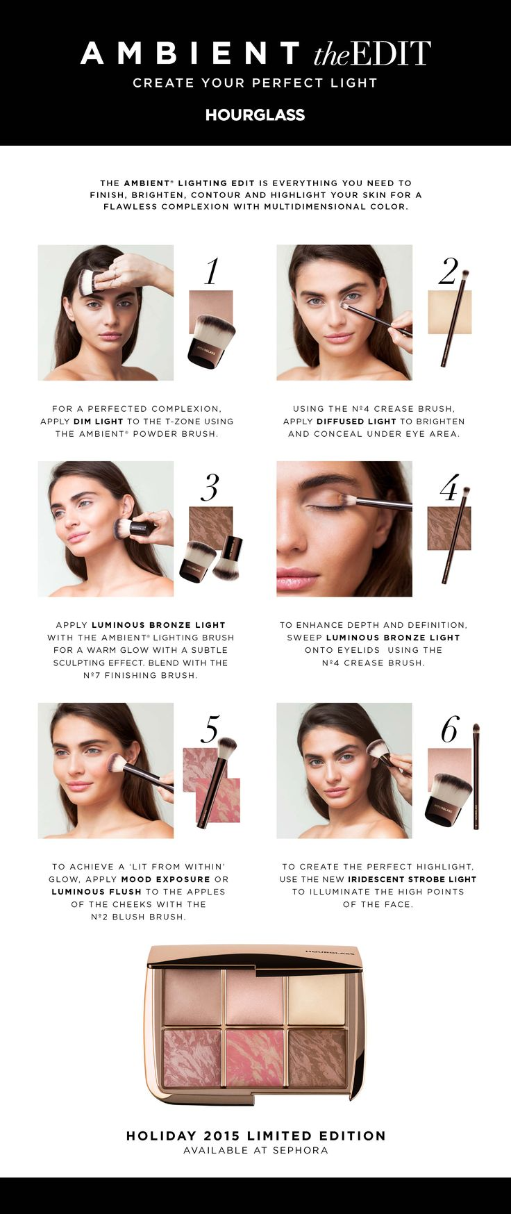 Check out this amazing how-to from #Hourglass using the Ambient Lighting palette. #Sephora #HowTo