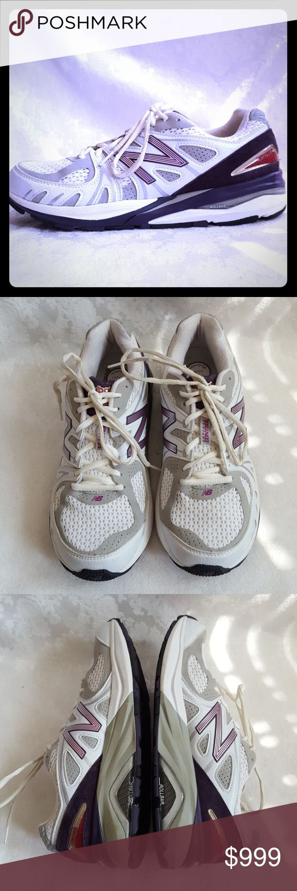 🌺DISC SHIP🌺Like New! New Balance 1540 Running Like New Balance 1540 running shoes. White, purple & pink. Motion control w/ stability features to guide foot forward. Developed for comfort, control & stability. Made in USA.  * ROLLBAR w/ Medial & Lateral TPU Posts for ultimate motion control * ACTEVA Midsole cushions & resists compression set -12% lighter than standard foam * ENCAP midsole technology provides support & max. durability * ABZORB cushioning in midfoot for exceptional shock…