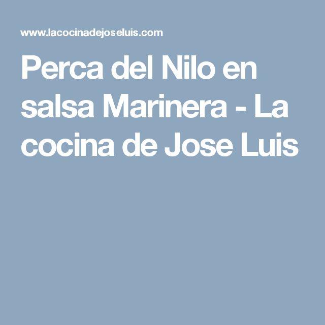 Perca del Nilo en salsa Marinera - La cocina de Jose Luis
