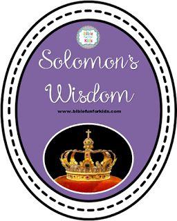 Solomon's Wisdom lesson, ideas and printables #Biblefun #OTBiblelesson