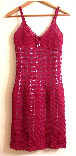*Free Crochet Pattern: Red Cotton Dress by Jelena Mitic