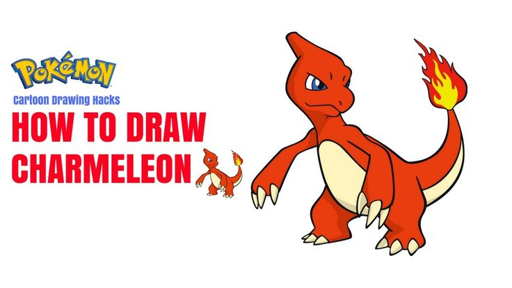 How to Draw Charmeleon  Pokemon Step By Step Easy | Pokemon Drawing Less...