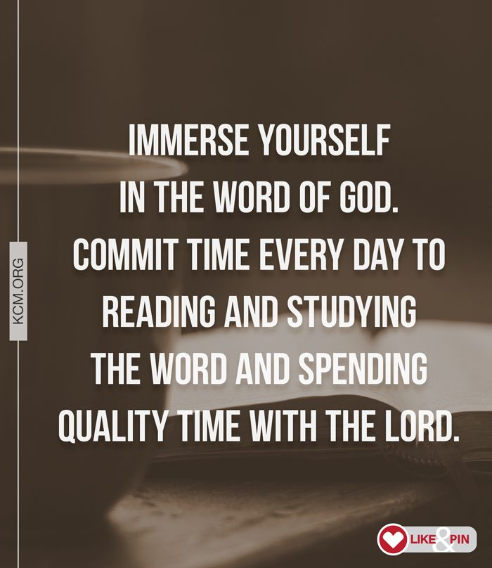 Immerse yourself in the Word of God!