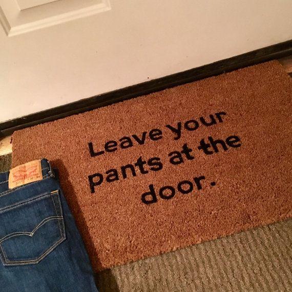 Custom Door Mat Door Mats with Sayings Funny by ToniAnnsBellaArte