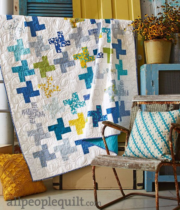 Using a Sphere Jelly Roll by Zen Chic for Moda this fresh and sunny quilt makes a gorgeous decorative element for your home. It's featured in the 2016 Calendar from Allpeoplequilt