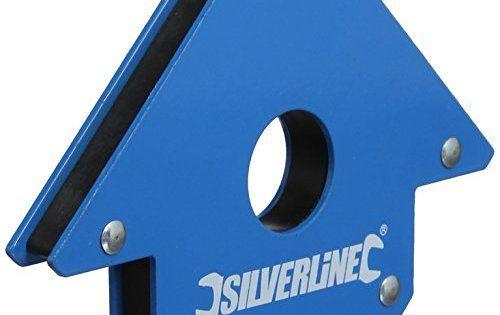 Silverline – 868731 – Aimant de Soudeur – 100 mm: Aimant de soudage puissant Permet de maintenir les pièces à usiner en place à 45°, 90° et…