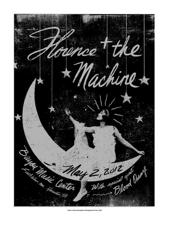Florence and The Machine LAST FEW LEFT by carloshernandez on Etsy, $100.00
