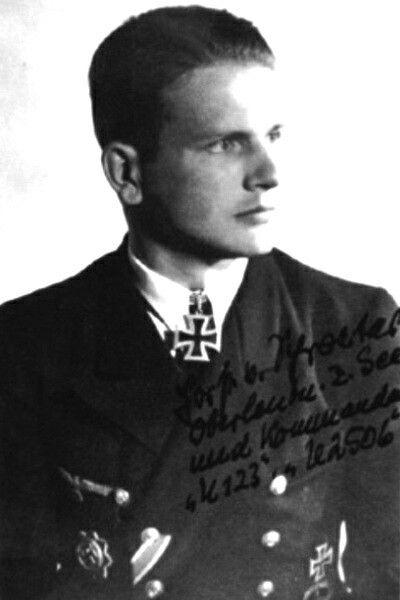 """Oberleutnant zur See Horst von Schroeter (1916-2006), Kommandant Unterseeboote """"U 123"""", Ritterkreuz 01.06.1944"""