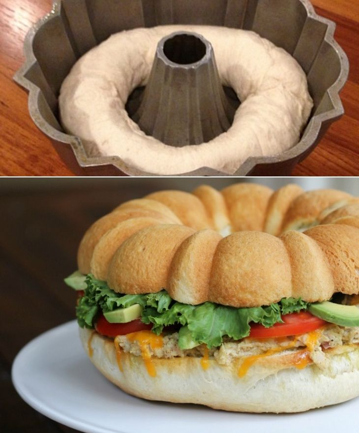 Genius idea for serving sandwiches for a crowd!