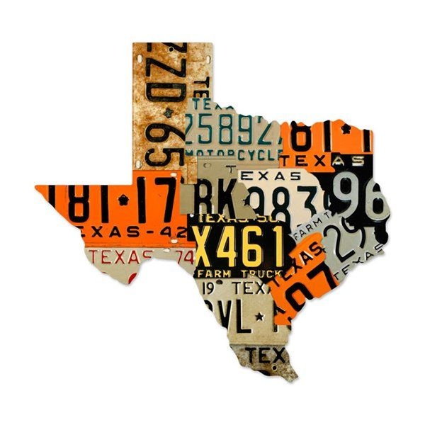 Past Time Signs PS095 Texas License Plates Automotive Metal Art   The Mine