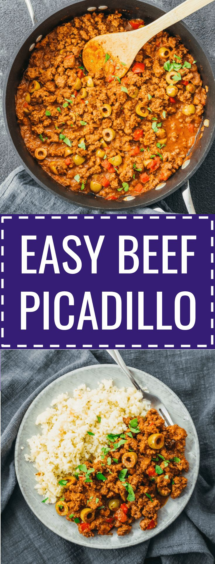 An easy beef picadillo stew recipe influenced by Cuban and Mexican cuisine. #beef #healthy mexicano / cubano / puerto rican / pinoy / filipino / turkey / receta / costa rica / de res / mexico / keto / low carb / diet / atkins / induction / meals / recipes / easy / dinner / lunch / foods / healthy / gluten free / chicken / spanish / authentic / sides / simple / stove top / best / quick / classic / hearty / ground