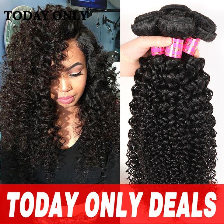 Today Only Brazilian Virgin Hair Kinky Curly 10A Afro Kinky Curly Virgin Hair Rosa Hair Products Brazilian Hair Weave 3 Bundles