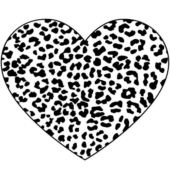 Leopard Print Heart Svg Valentines Day Svg Valentine S Day Etsy In 2020 Svg Valentine Clipart Cricut Explore Air Projects