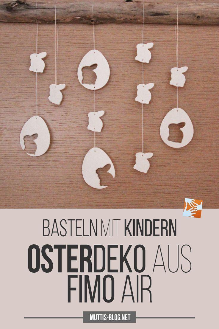 DIY-idee voor Pasen: zelfgemaakte paasdecoratie gemaakt van polymeerklei Air, paasgeschenken …  – Muttis Nähkästchen – Pins vom Blog