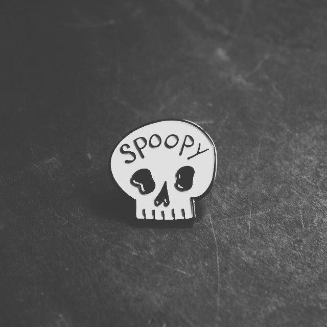 'Spoopy' Skull Pin