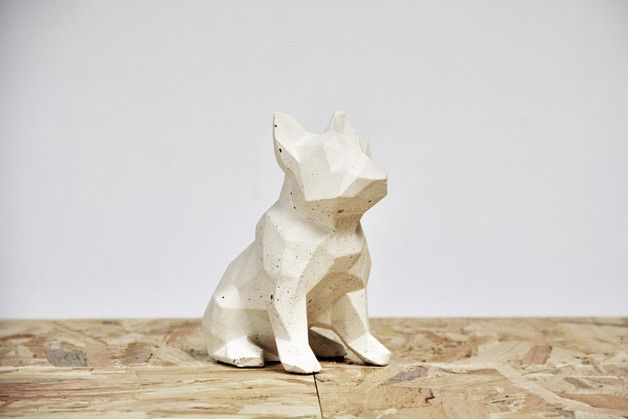 It's been created for someone like You! This Bulldog will stay with you forever - it's made of very durable architectural concrete. Reinforced with glass fibers and sealed with repellent. It isn't...