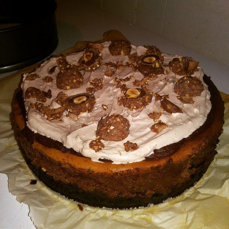 Chocolate Overload Ferrero Rocher Cheesecake
