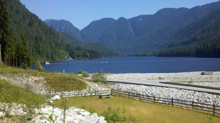 Incredible bike ride into the North Shore Mountains to Seymour Dam where most of Vancouver's drinking water comes from.