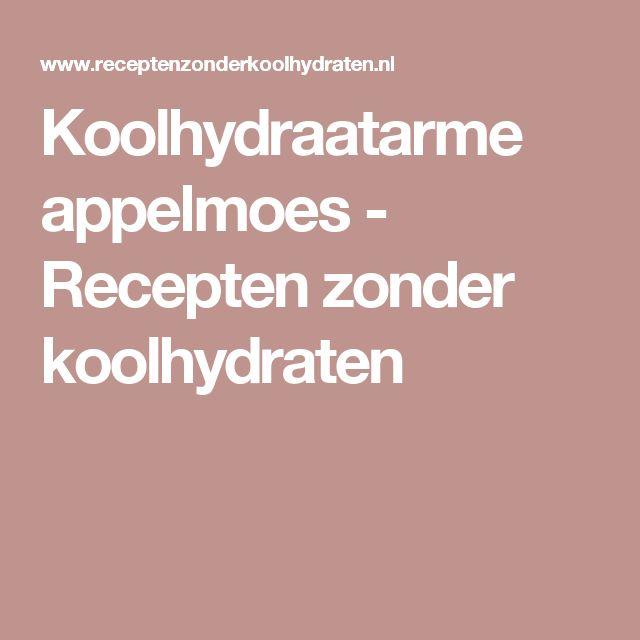 Koolhydraatarme appelmoes - Recepten zonder koolhydraten