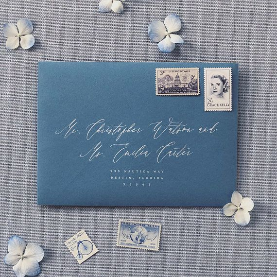 Elena Suite French Blue Wedding Invitation Floral Invite Etsy Floral Wedding Invitations French Blue Wedding Floral Invitation