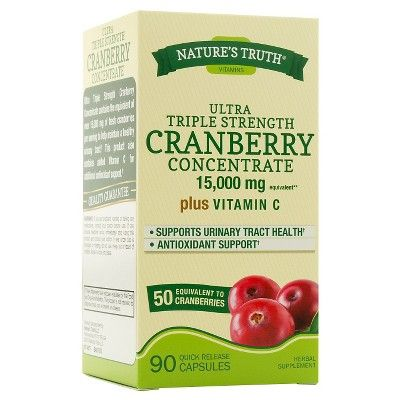 Nature's Truth Cranberry Concentrate 15000mg Capsules - 90 Count