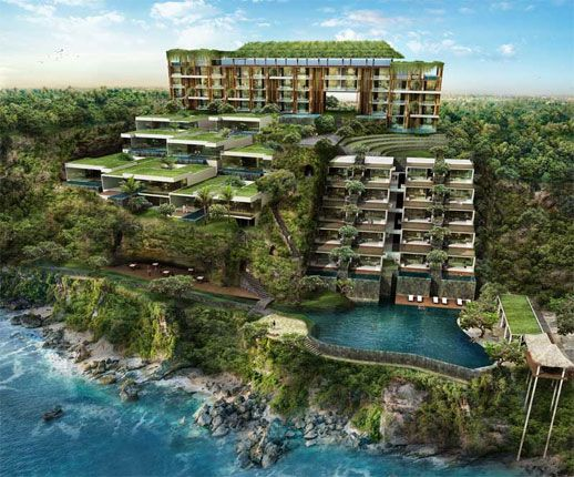 beautiful view of Anantara Uluwatu hotel..