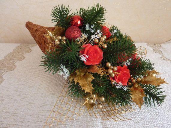 Cornucopiahorn of plentyflower arrangementNew by FlowerKingdomArt