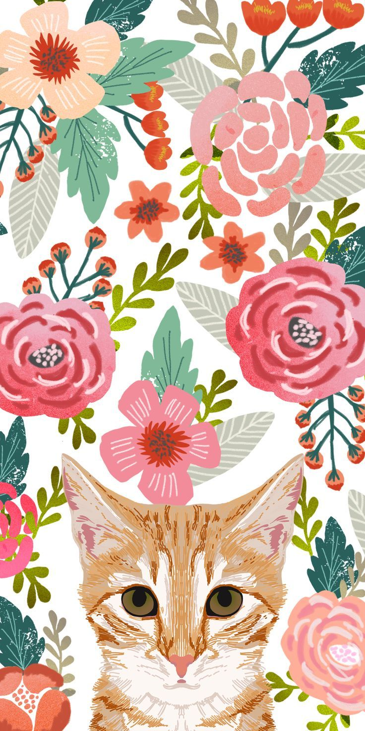 Cats Floral Crown Casetify Iphone Art Design Animals