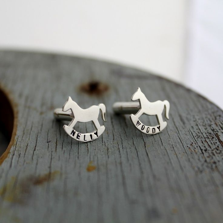 This is a beautiful silhouette of a child's rockinghorse. The cufflinks enable you to have your child's name (or someone special to you) personalised on the bottom, producing a completely unique pair of cufflinks completely bespoke to you that can be treasured for years to come.  We have designed these in conjunction with the wonderful Rockinghorse Children's Charity, who are a Brighton based charity that has been supporting children for over 40 years. **PLEASE NOTE: No discount code may be…
