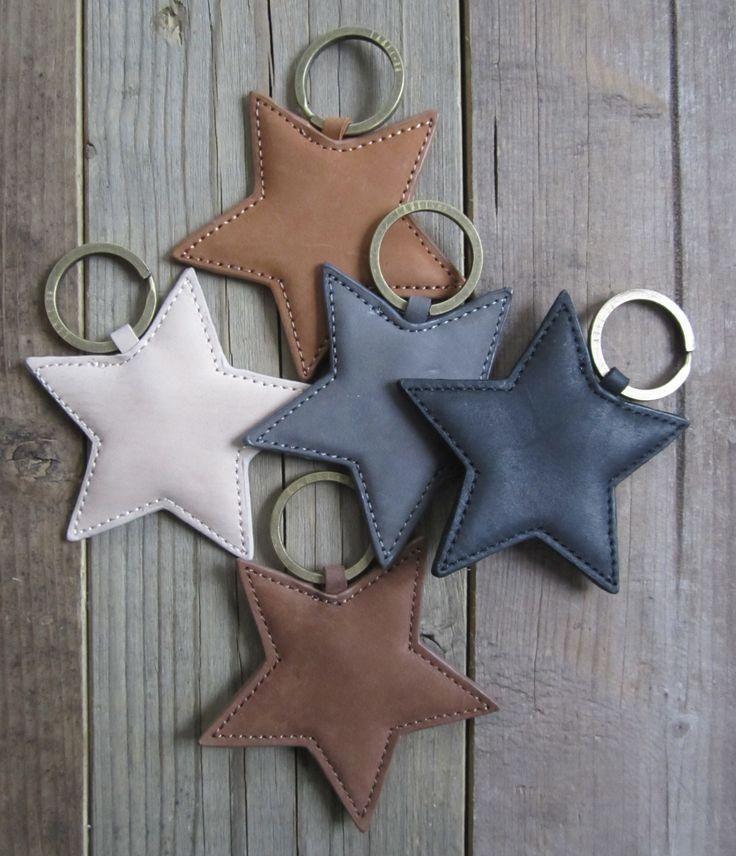 Étoiles cuir porteclef