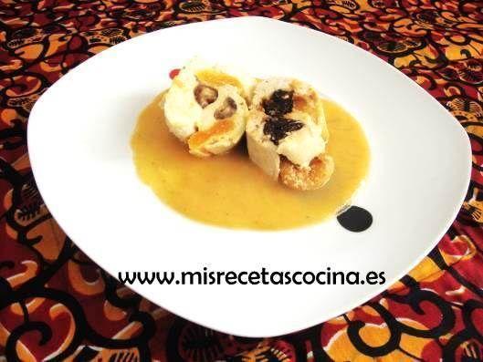 Pechugas de Pollo Rellenas de crema de queso y frutos secos en Thermomix