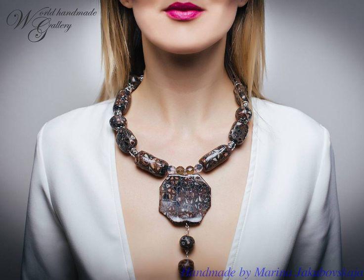 🔝 Sale, Sale, Sale!!! ❗️Принимаем заказы! 👍 100% Hand-Made 🌏 http://world-handmade-gallery.com/ _________________________ 🏡 Чешская Республика, Прага, 👩 Марина Якубовская 💎 полимерная глина, 30 см 💶 30 евро _________________________ 🏡 Czech Republic, Prague 👩 Marina Jakubovskaja 💎 polymer clay, 30 cm 💶 30 euro _________________________ 👒 Колье послужит хорошим подарком, ведь это ручная работа. Автор бережно упакует вещь и передаст или отправит Вам её самым удобным способом, о…
