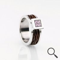 Horsehair ring Coco, Ribbon 6mm