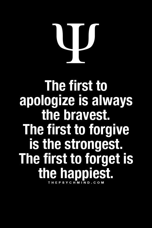 What if you say sorry and they don't forgive you? does that mean that you have to waste your time forgetting weak people just so you can be happy? or does it mean that you have to feel sad so and remember those weak people just to see them become strong again?