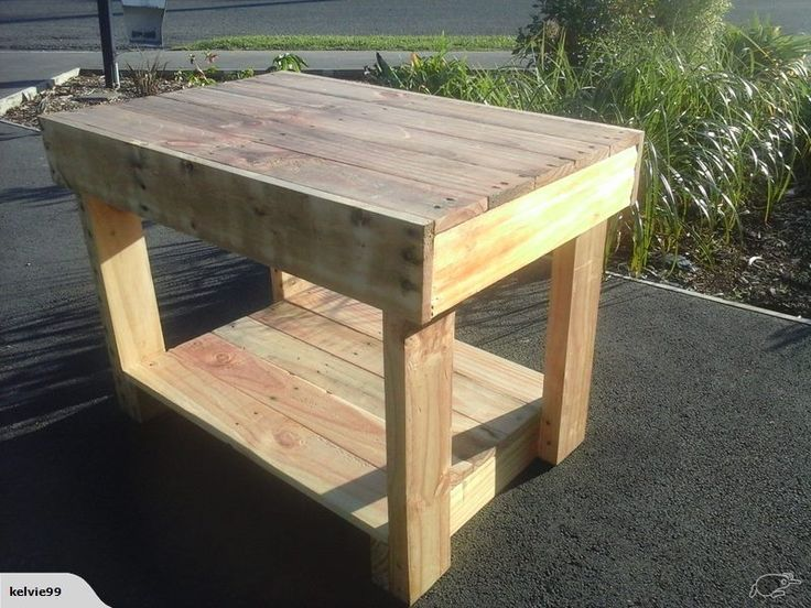 Pallet Table made from recycled pallets  You can check out my other listings by clicking this link here, and if you like my products feel free to add me as a favourite seller.   http://www.trademe.co.nz/Members/Listings.aspx?searchtype=SELLER&   member=1408573   Thank you for checking out this auction