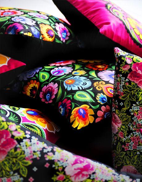 Tyyyle folk poduszek :) Folk, wycinanki łowickie, folk design