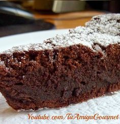 Receta Fácil: Como hacer Bizcocho de Chocolate, con SOLO 3 Ingredientes